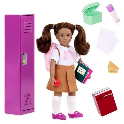 "Lori 6"" Doll & Accessories Jessalyn's School Locker Set"