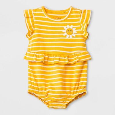 Baby Girls' Rompers & Jumpsuit - Cat & Jack™ Yellow Newborn