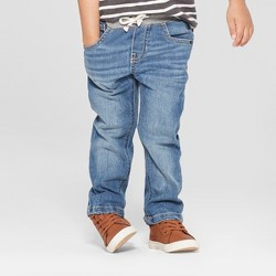 Toddler Boys' Pull-On Straight Jeans - Cat & Jack™ Medium Wash