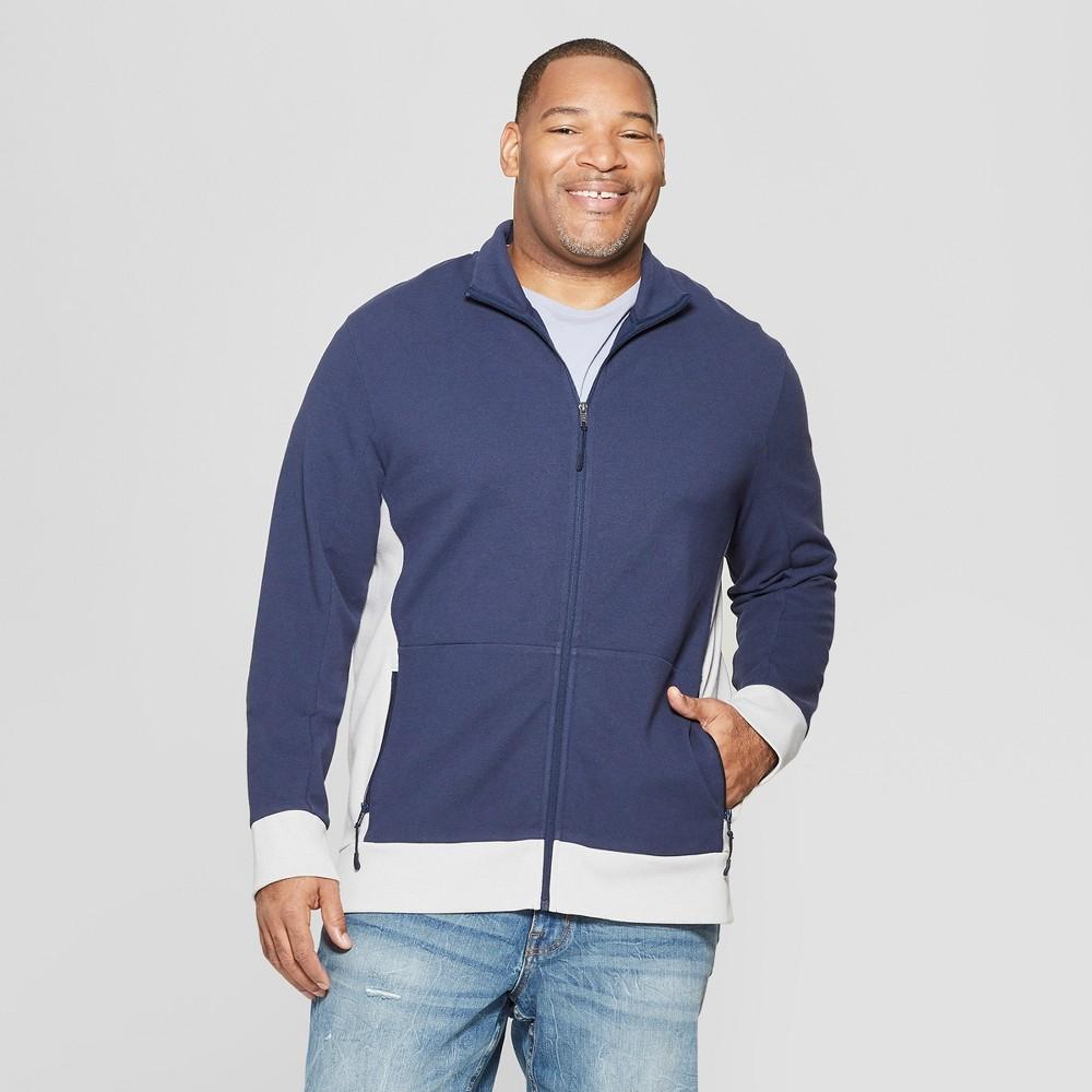 Men's Tall Long Sleeve Track Jacket - Goodfellow & Co Jamestown Blue MT