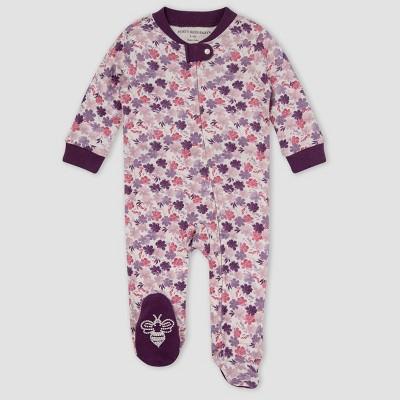 Burt's Bees Baby® Baby Girls' Ditsy Museum Garden Sleep & Play - Dark Purple 3-6M