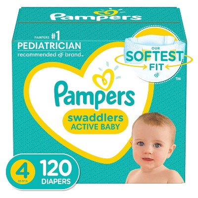 Pampers Swaddlers Diapers - Size 4 - 120ct