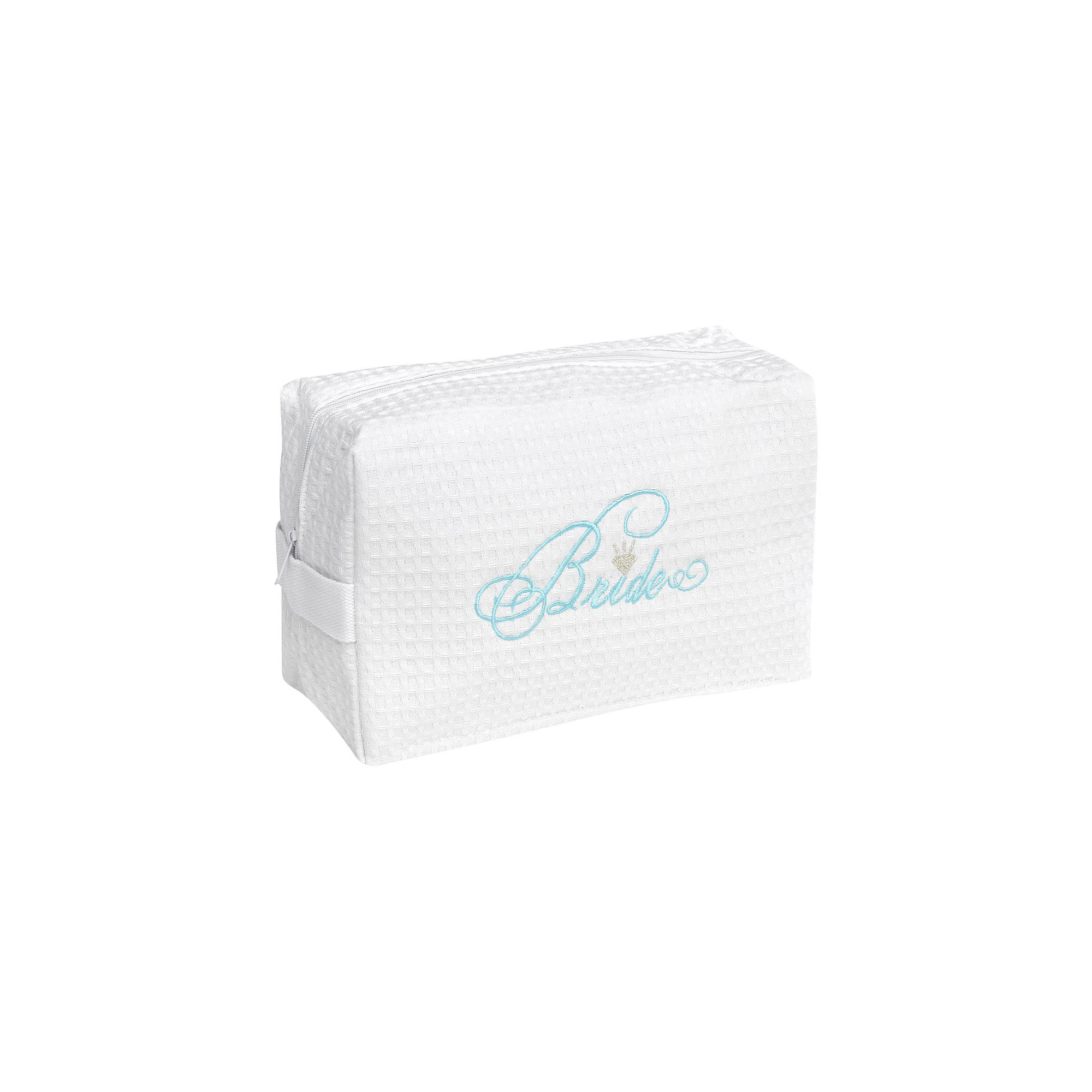 Bride Waffle Cosmetic Bag, White
