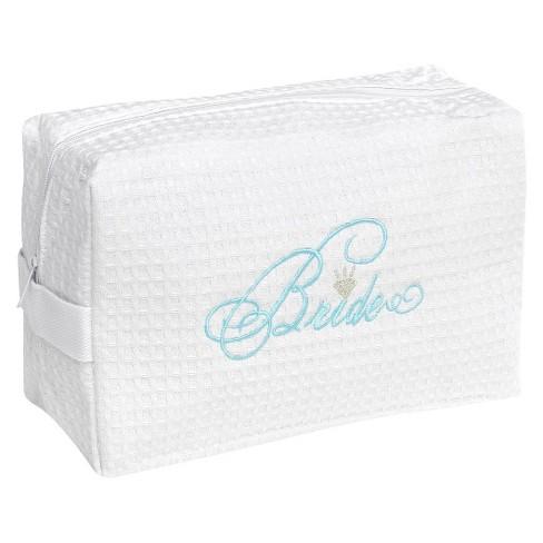 Bride Waffle Cosmetic Bag - image 1 of 2
