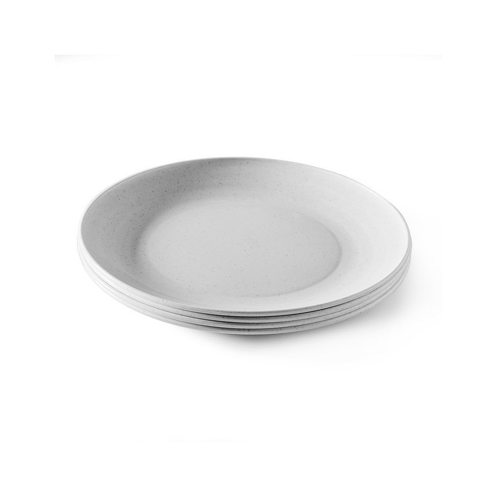Image of Microwaveable Plates 10.88 White Set of 4- Nordic Ware