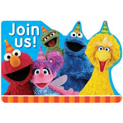 Birthday Express Sesame Street Postcard Invite - 8 Pack