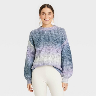 Women's Spacedye Crewneck Pullover Sweater - A New Day™