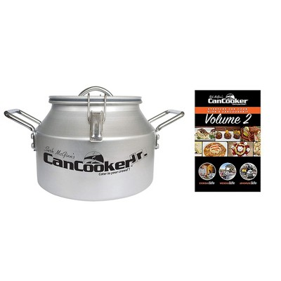 CanCooker JR Outdoor or In Home Stove Convection 2 Gallon Steam Cooker, Feeds up to 10 People and Recipe Cookbook Volume 2