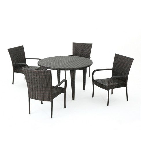 Seal 5pc Wicker Dining Set - Christopher Knight Home - image 1 of 4