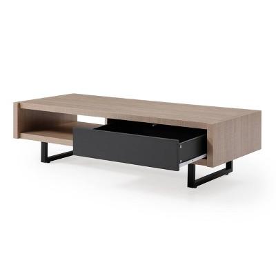 Ash Mid-Century Modern Living Room Coffee Table Tan - AC Pacific