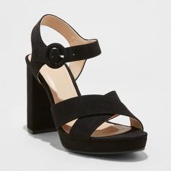 c172ccaa317b1 Women's Fiona Crossband Platform Ankle Strap Sandals - A New Day™ Black
