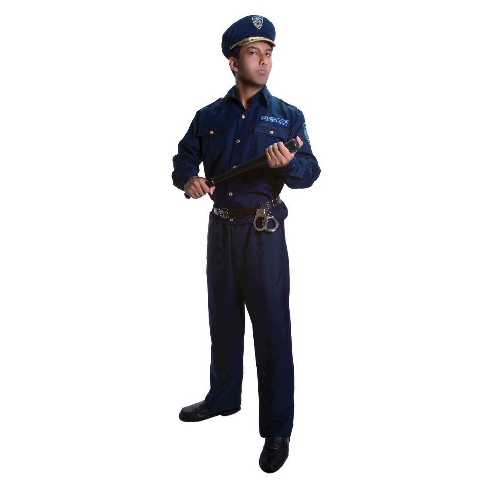 Image of Halloween Men's Police Costume - Large, MultiColored