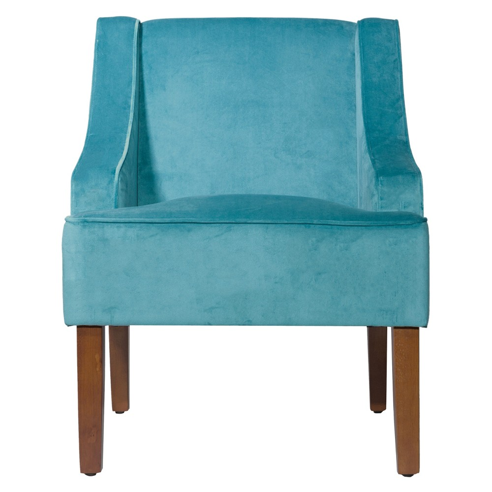Velvet Swoop Arm Chair - Teal (Blue)