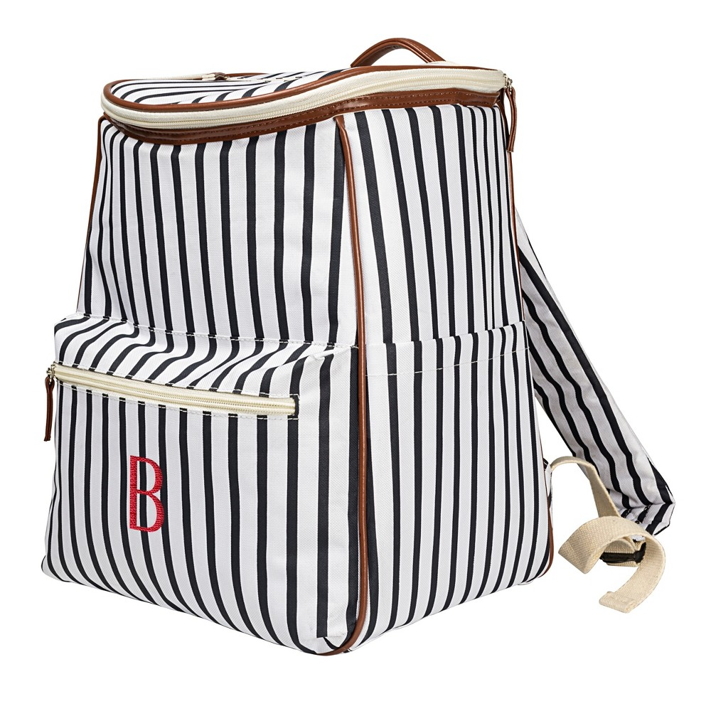 Cathy's Concepts Striped Backpack Cooler - B, Blue Brown White
