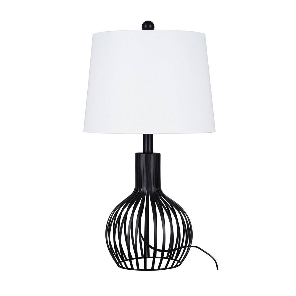 23 34 Farmhouse Table Lamp Black Includes Light Bulb Cresswell Lighting