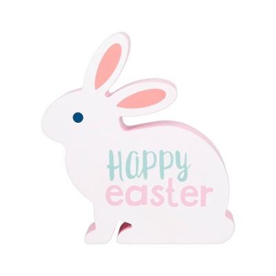 Wood Freestanding Sign Bunny Happy Easter- Spritz™