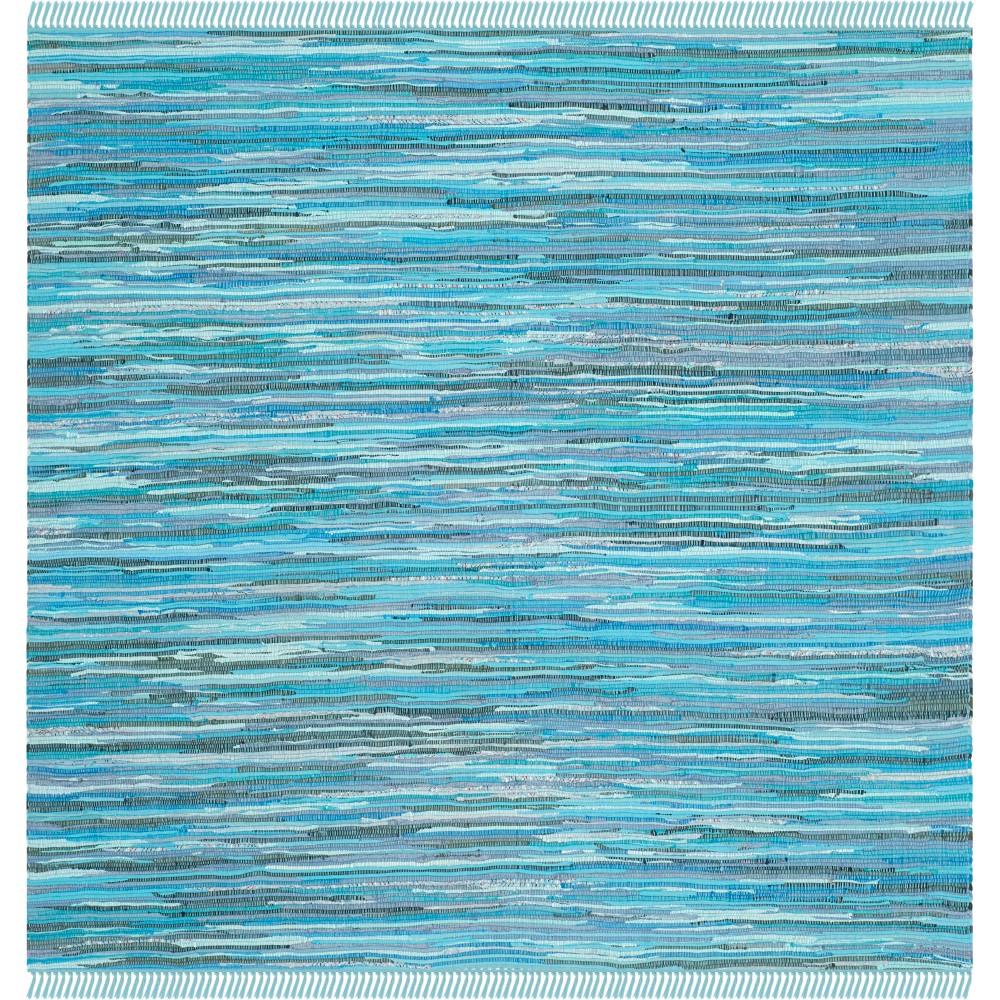 8'X8' Spacedye Design Woven Square Area Rug Blue - Safavieh