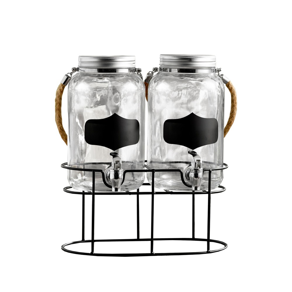 Image of 1gal 2pk Trent Chalkboard Beverage Dispenser - American Atelier, Clear