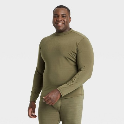Men's Fitted Long Sleeve Cold Mock Neck T-Shirt - All in Motion™
