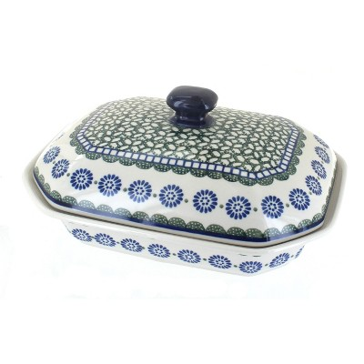 Blue Rose Polish Pottery Maia Medium Covered Baking Dish