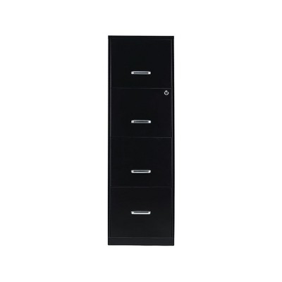 "Staples 4-Drawer Vertical File Cabinet Locking Letter Black 18""D (52152) 16883/52152"