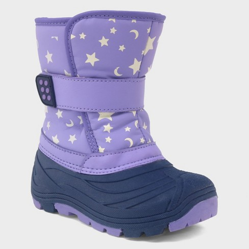 432e016c4ede Toddler Girls  Oona Glow Dark Star Print Winter Boots - Cat   Jack™   Target