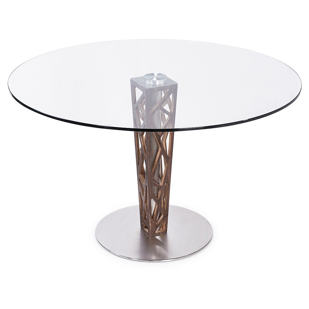 Dining Table Clear Walnut