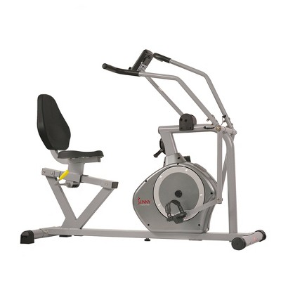 Sunny Health & Fitness Cross Training Magnetic Recumbent Exercise Bike