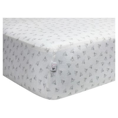 Burt's Bees Baby® Organic Fitted Crib Sheet - Honeybee - Gray