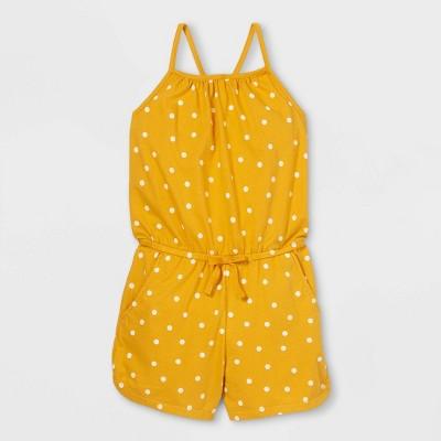 Girls' Printed Sleeveless Knit Romper - Cat & Jack™