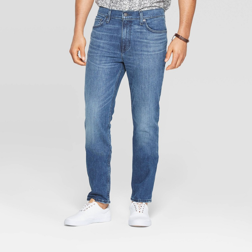 Men 39 S Slim Jeans Goodfellow 38 Co 8482 Medium Denim Wash 28x30