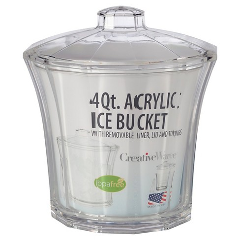 creativeware fluted 4qt acrylic insulated ice bucke target