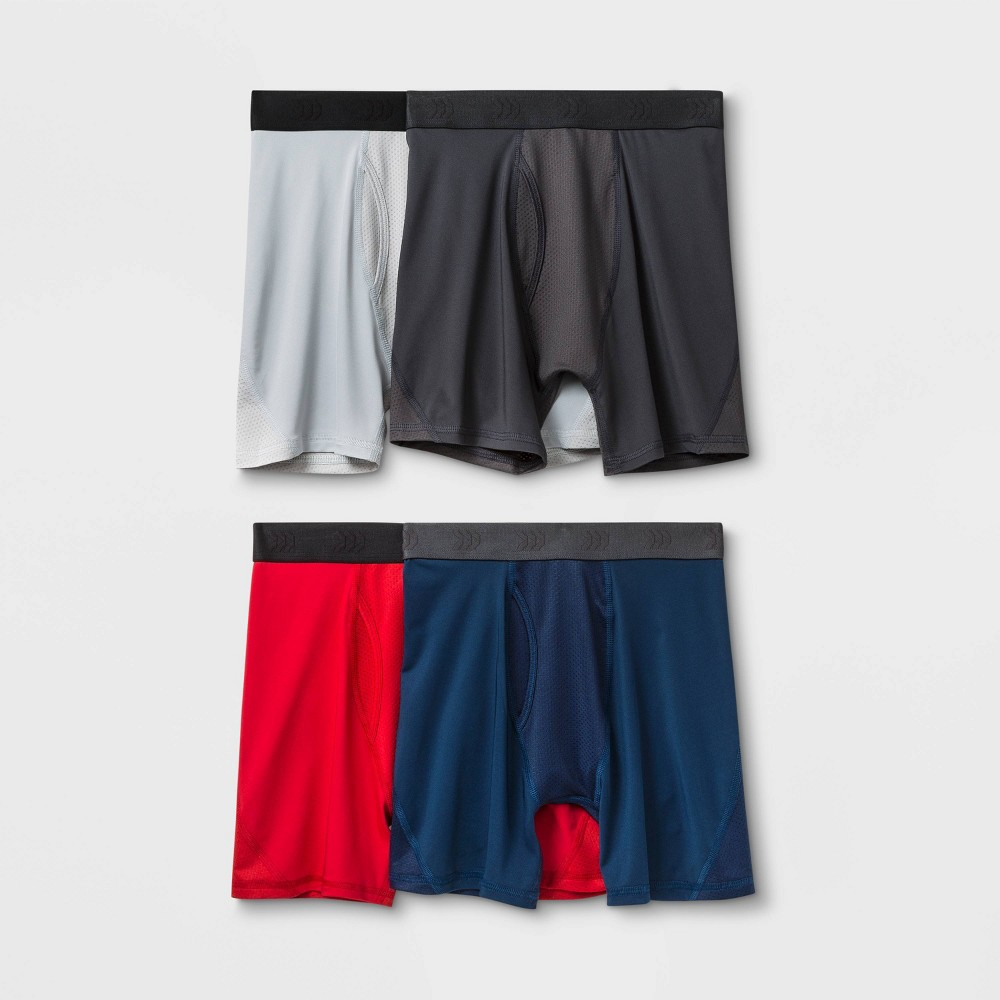 Image of Boys' 4pk Mesh Boxer Briefs - All in Motion Red L, Boy's, Size: Large