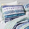 Turquoise Stripe Jewel Dream Reversible Quilt Set - image 2 of 3