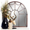 """35"""" Modern Iron Arched Window Pane Wall Mirror Black - Olivia & May - image 2 of 3"""