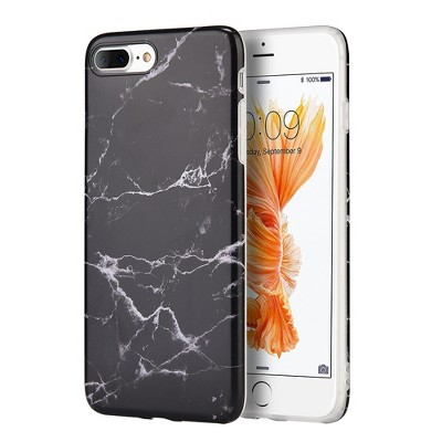 INSTEN TPU Marble Case compatible with Apple iPhone 7 Plus, Black