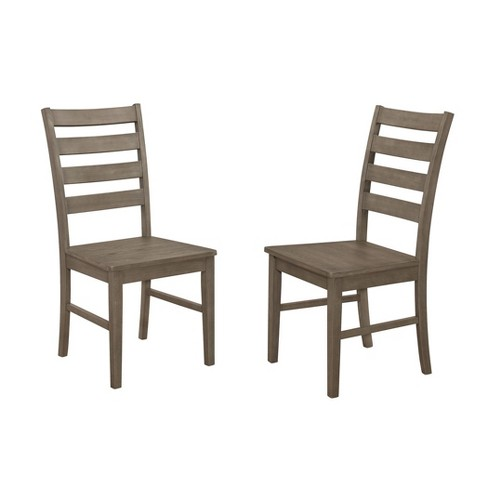Wood Ladder Back Dining Chair, Set of 2 - Saracina Home - image 1 of 4