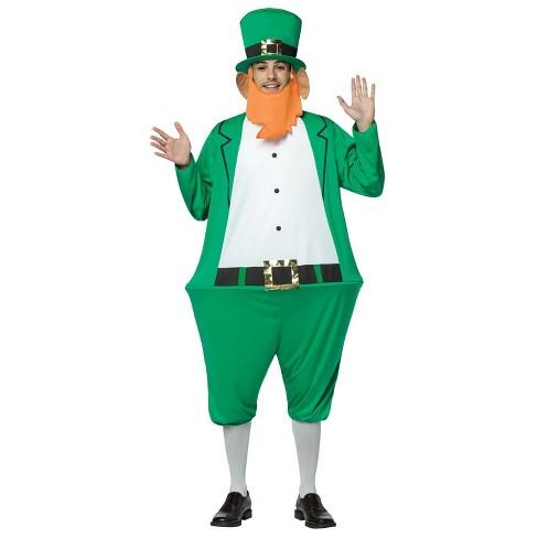 St Patricks Day Leprechaun Costume for Adults 4 Sizes