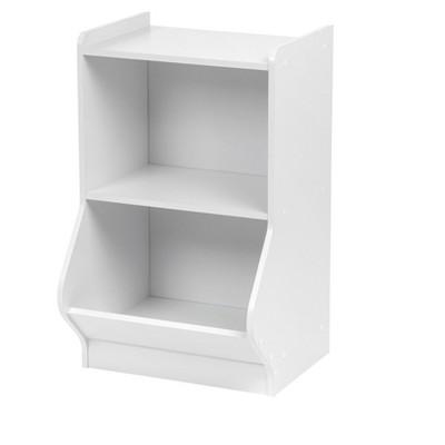 IRIS 2 Tier Storage Shelves with Footboard White