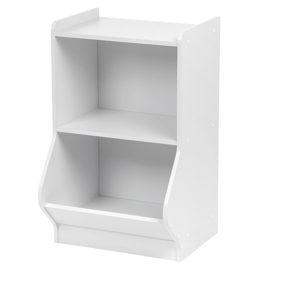 Image of IRIS 2-Tier Storage Shelves with Footboard - White