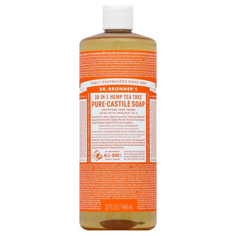 Dr Bronner's Magic Soaps Pure Castile Soap - Tea Tree - 32 oz