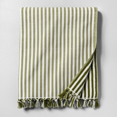 Beach Towel Stripe Green - Hearth & Hand™ with Magnolia