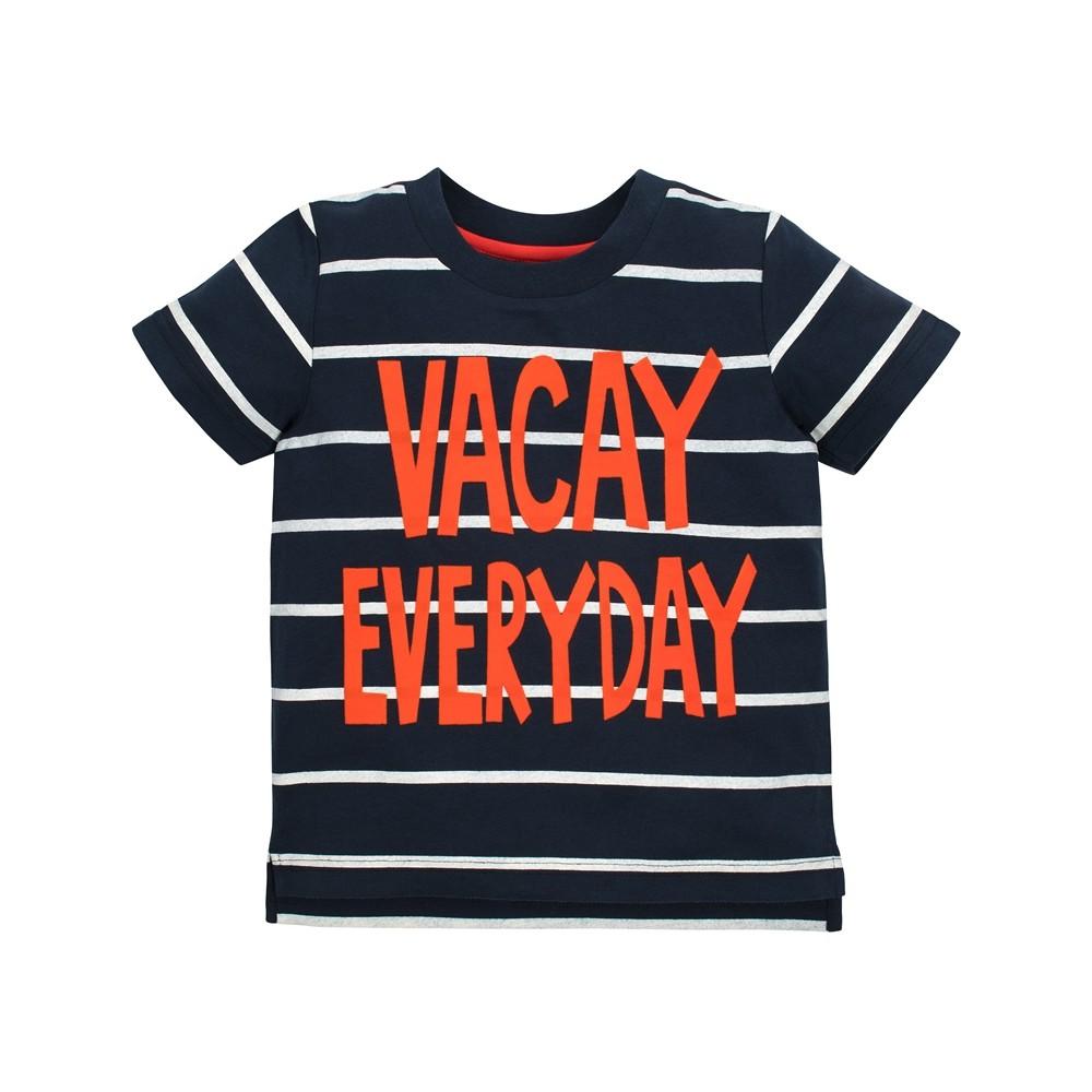 Gerber Graduates Toddler Boys' Vacay Everyday Short sleeve T-Shirt - Navy 3T, Blue