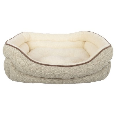 Stone Double Bolster Cuddler Pet Bed - Medium - River Birch - Boots & Barkley™