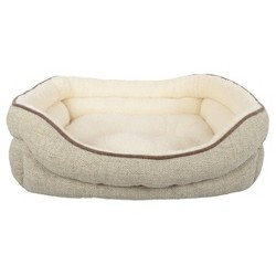 Stone Double Bolster Cuddler Dog Bed - River Birch - Boots & Barkley™