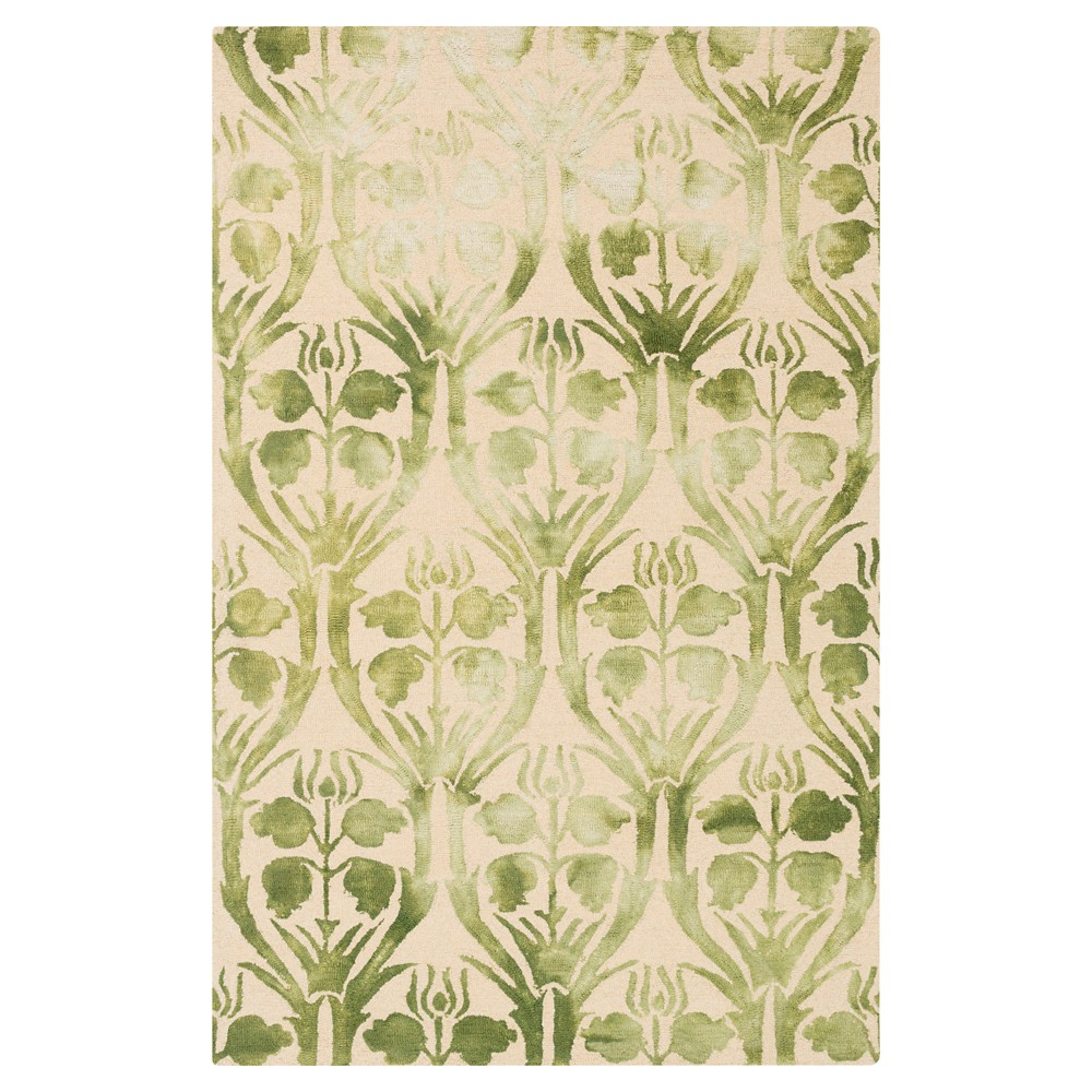 Butter (Yellow) Abstract Hooked Area Rug - (5'X7'6) - Surya