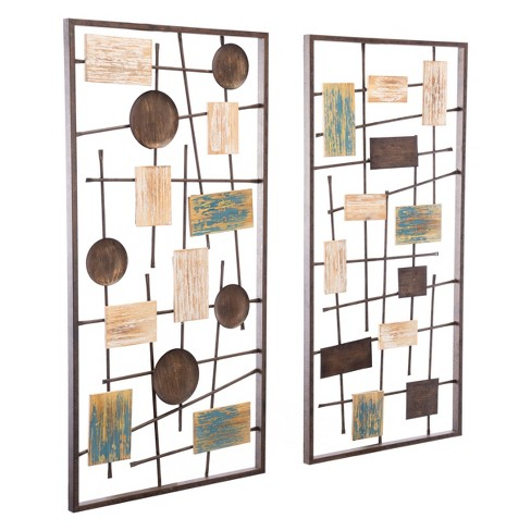 "ZM Home 35"" Abstract Wall Sculpture - image 1 of 3"