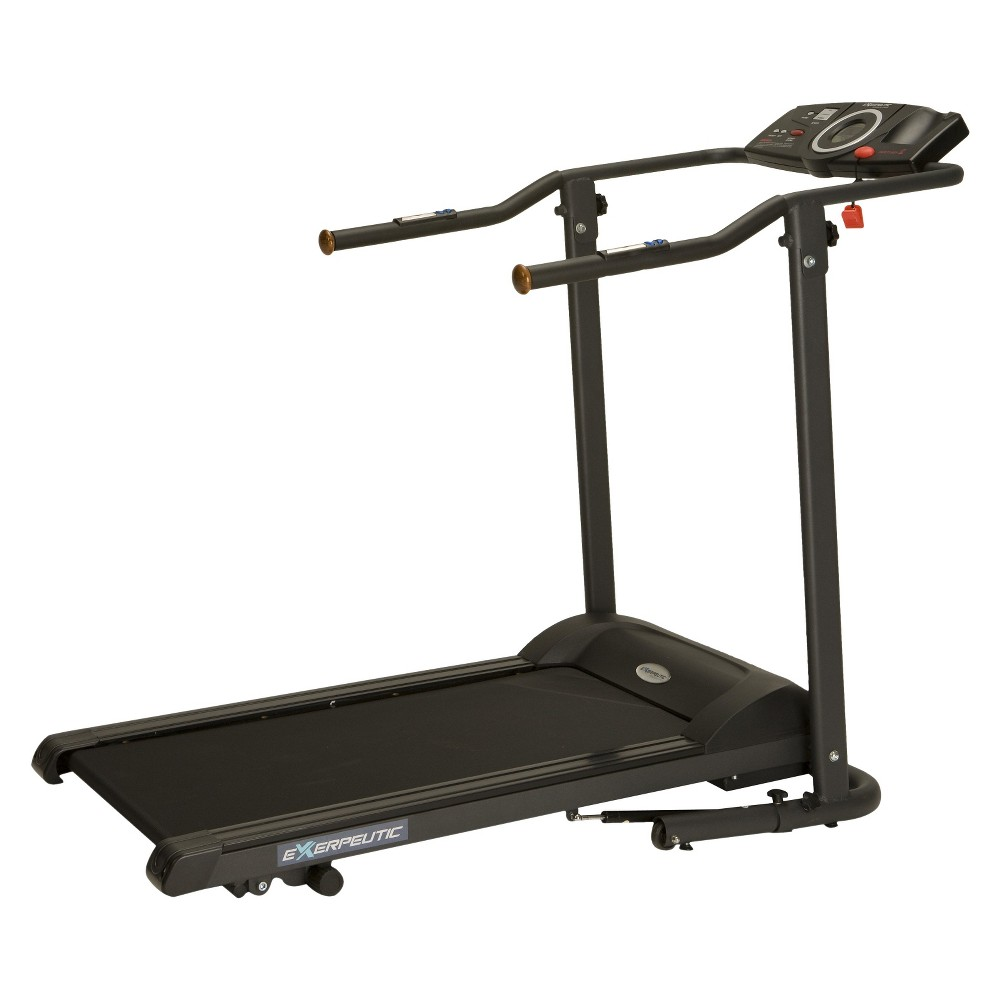 Exerpeutic 400XL Fitness Walking Electric Treadmill, Black