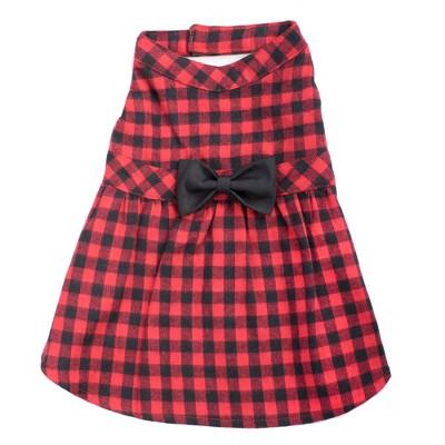 The Worthy Dog Flannel Buffalo Check Plaid Adjustable Pet Dress