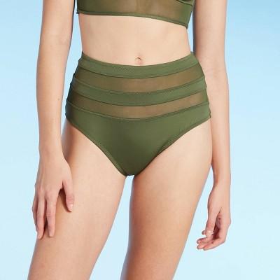 Women's Mesh High Waist Bikini Bottom - Shade & Shore™